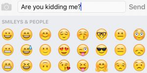 Emojis use
