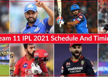 IPL 2021 full schedule