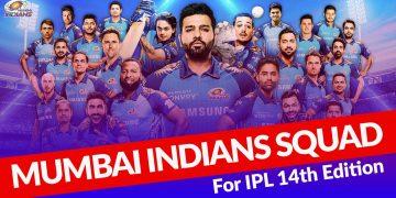 MI Team Squad For IPL 14th Edition