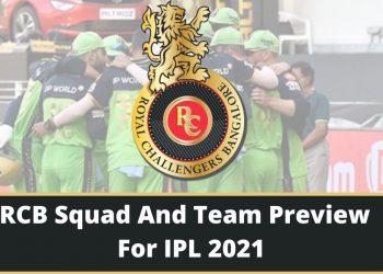 RCB Team Squad 2021